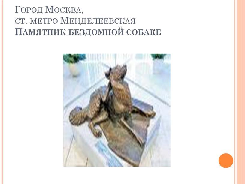 Город Москва, ст. метро Менделеевская