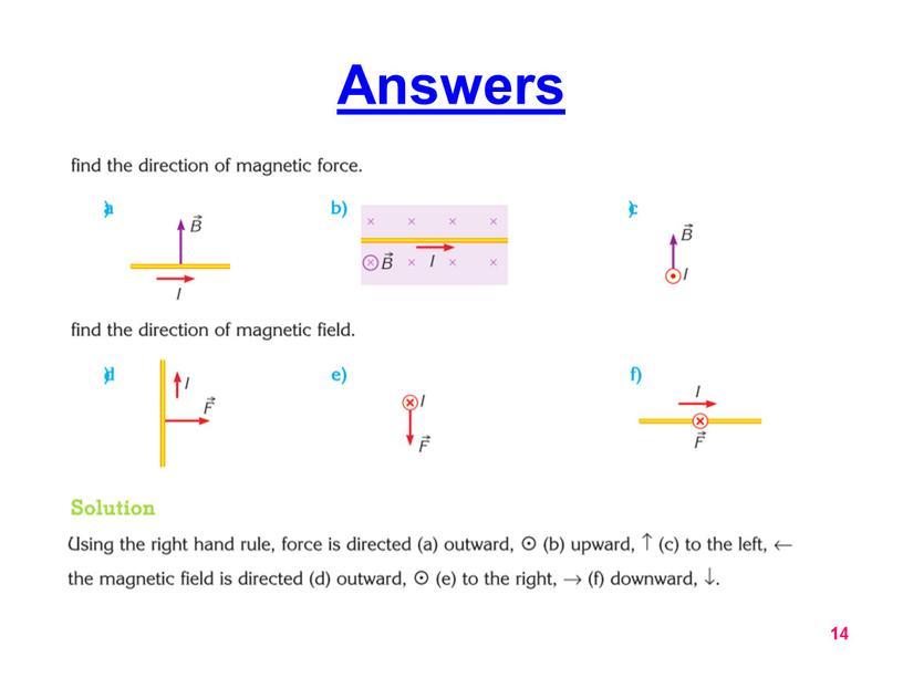 Answers 14