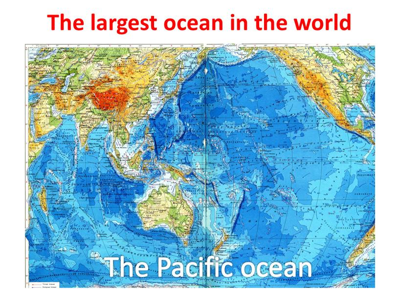 The largest ocean in the world