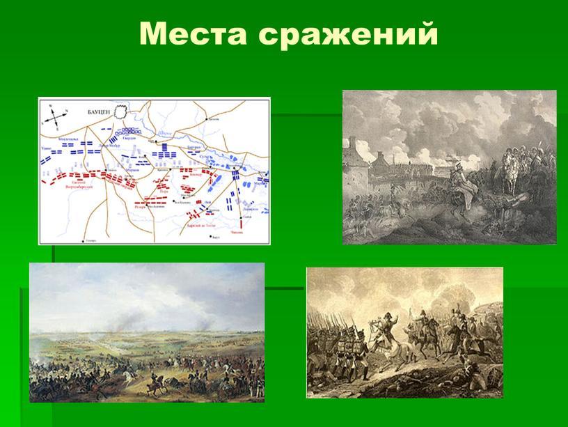Места сражений