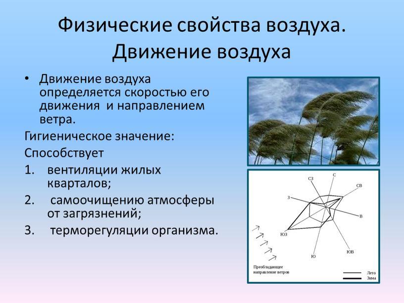 Физические свойства воздуха. Движение воздуха