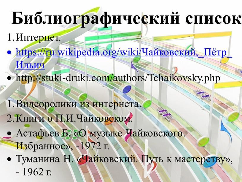 Библиографический список Интернет