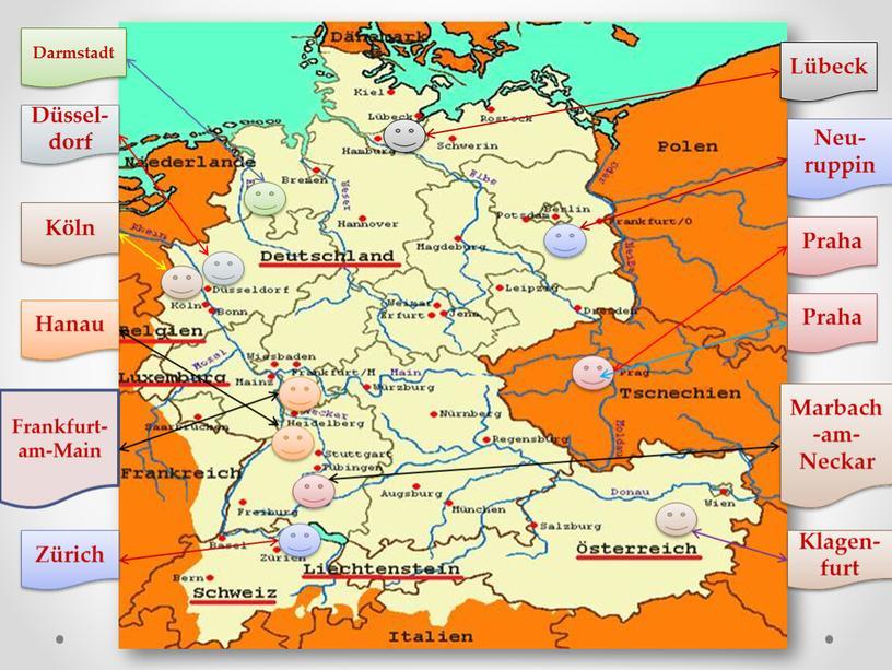 Darmstadt Düssel-dorf Frankfurt- am-Main
