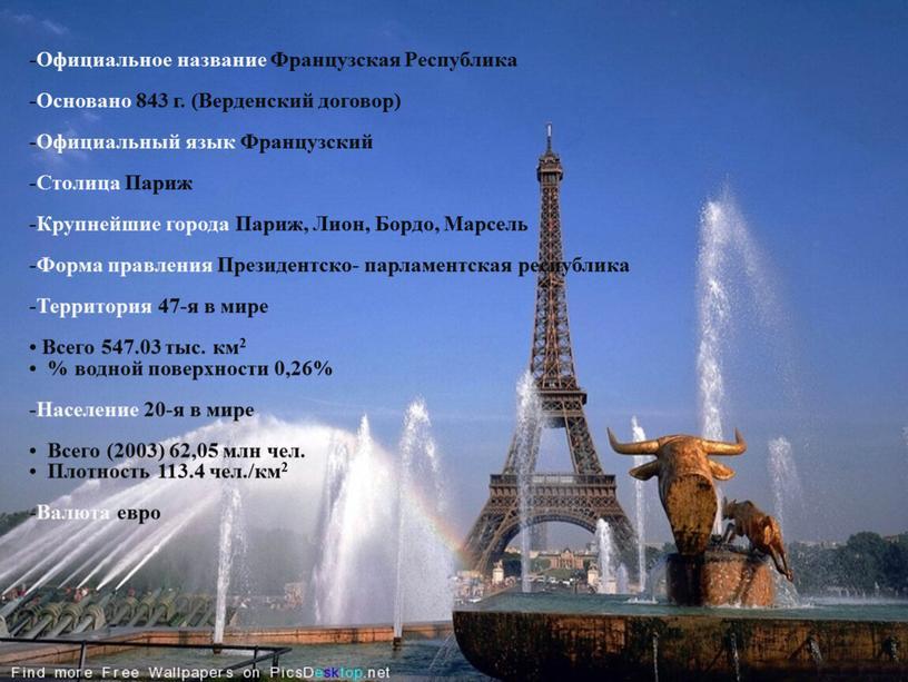 Официальное название Французская