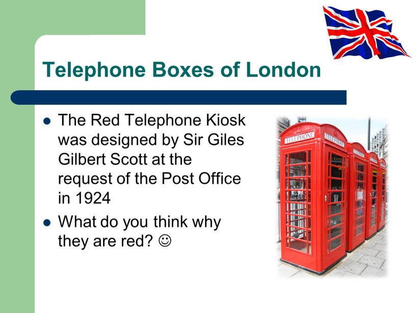 Telephone Boxes of London The Red