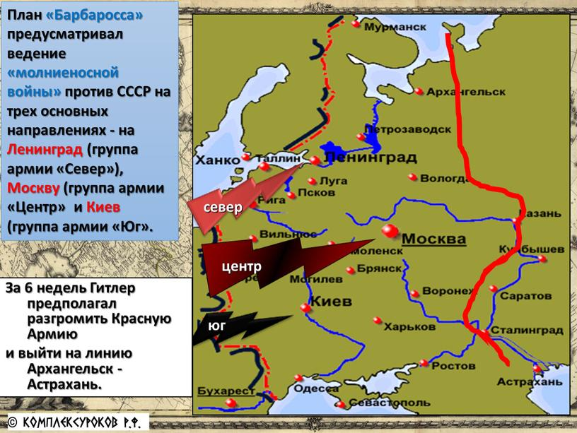 План «Барбаросса» предусматривал ведение «молниеносной войны» против