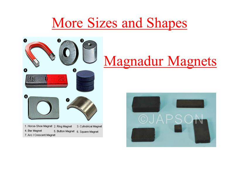 More Sizes and Shapes Magnadur