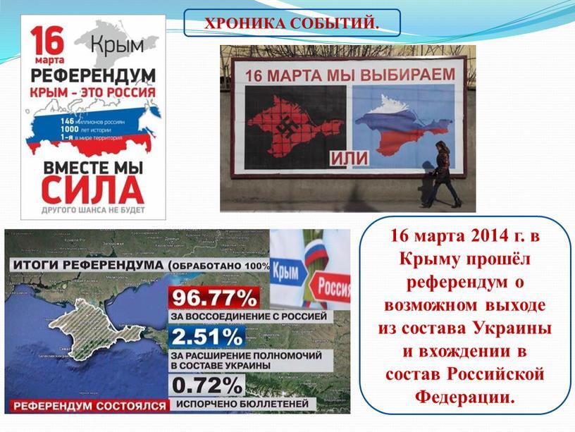 Крыму прошёл референдум о возможном выходе из состава