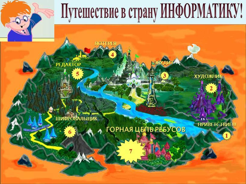 Путешествие в страну ИНФОРМАТИКУ! 3 4 1 6 2