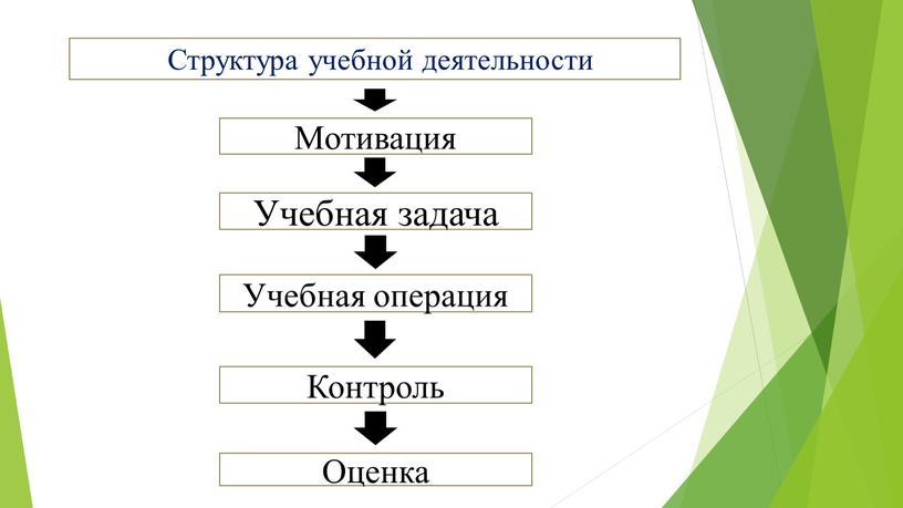 Структура учебной деятельности