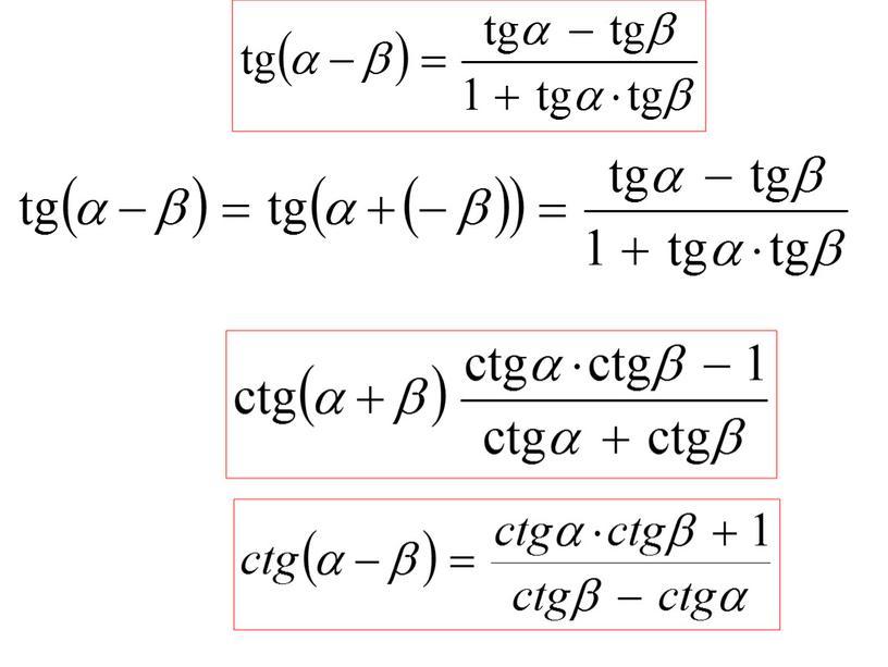 1_тригонометрические формулы суммы и разности углов_презентация