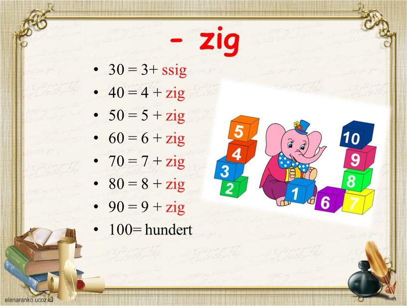 - zig 30 = 3+ ssig 40 = 4 + zig 50 = 5 + zig 60 = 6 + zig 70 = 7 +…