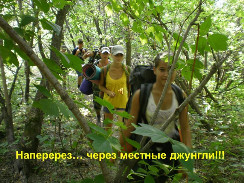 Наперерез… через местные джунгли!!!