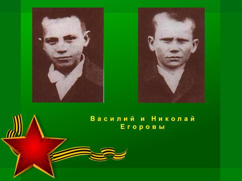 Василий и Николай Егоровы