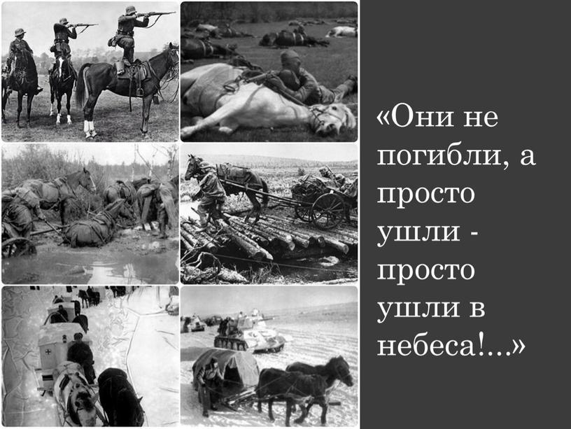 Они не погибли, а просто ушли - просто ушли в небеса!