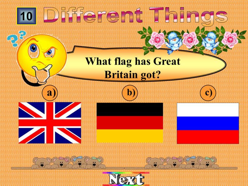 What flag has Great Britain got?