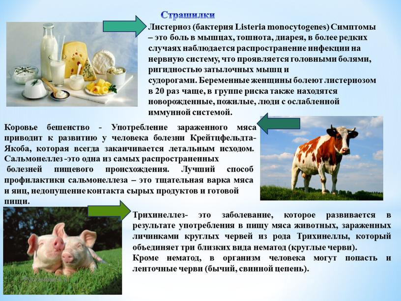 Листериоз (бактерия Listeria monocytogenes)