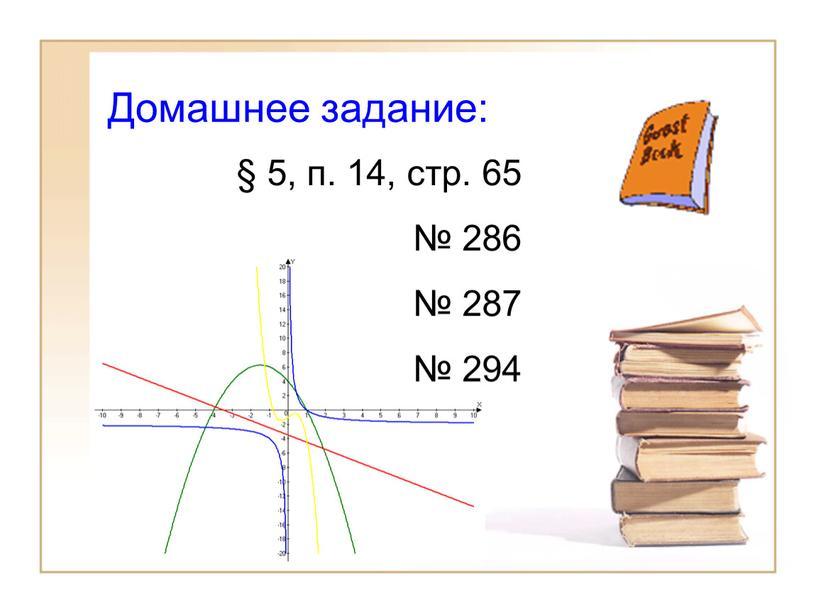 Домашнее задание: § 5, п. 14, стр