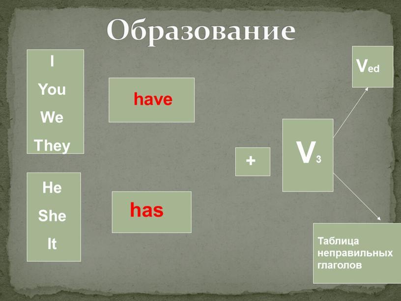 Образование I You We They He