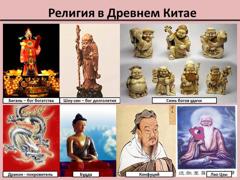 Религия в Древнем Китае Бигань – бог богатства