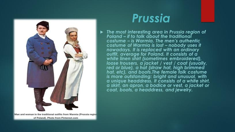 Prussia The most interesting area in