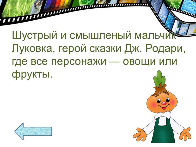 Шустрый и смышленый мальчик Луковка, герой сказки