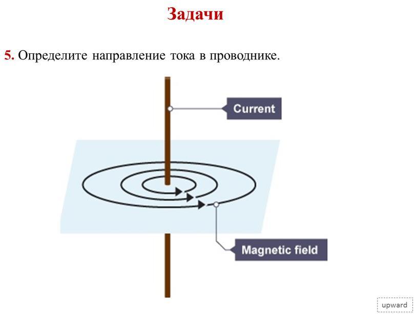Задачи upward 5. Определите направление тока в проводнике