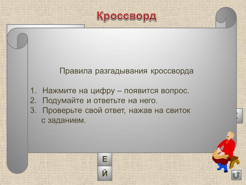 Кроссворд 4 2 1 О Л О В Е Й С В