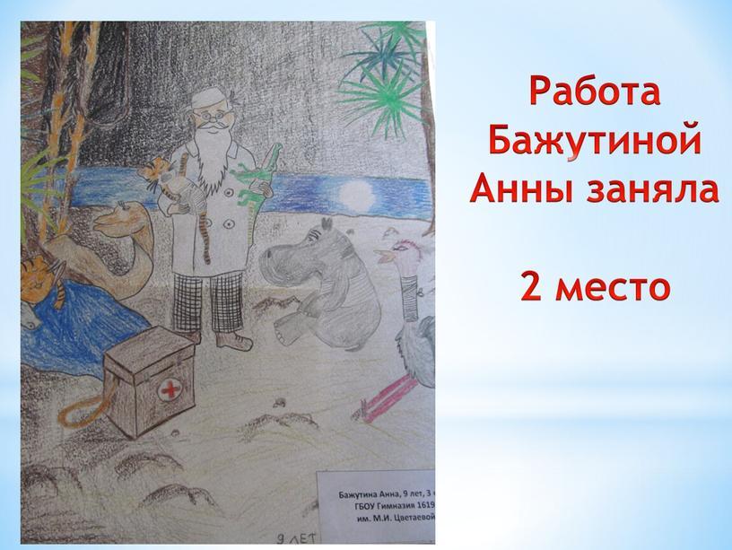 Работа Бажутиной Анны заняла 2 место