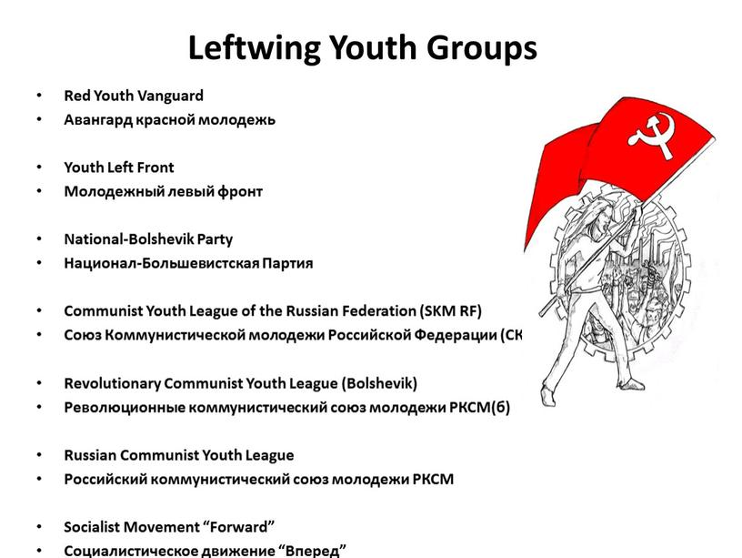 Leftwing Youth Groups Red Youth