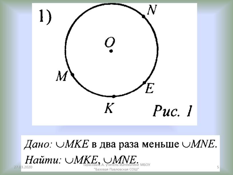 Тарасова Е.А. учитель математики