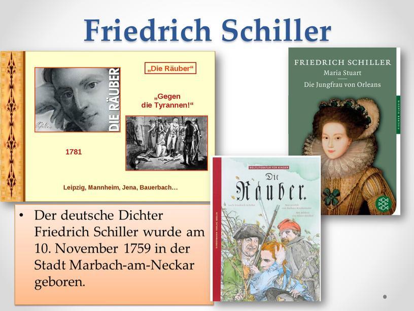 Friedrich Schiller Der deutsche