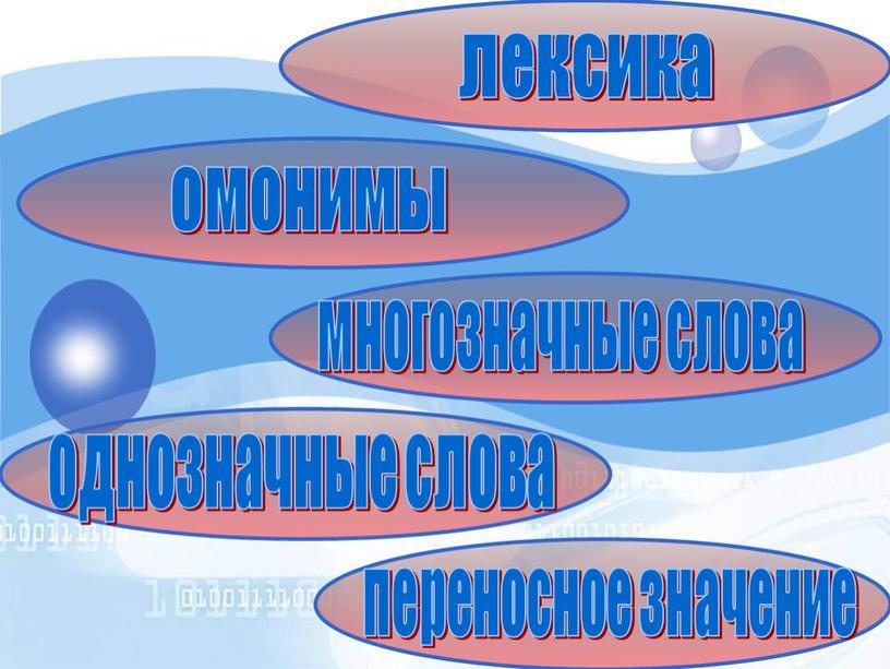 лексика многозначные слова однозначные слова переносное значение омонимы