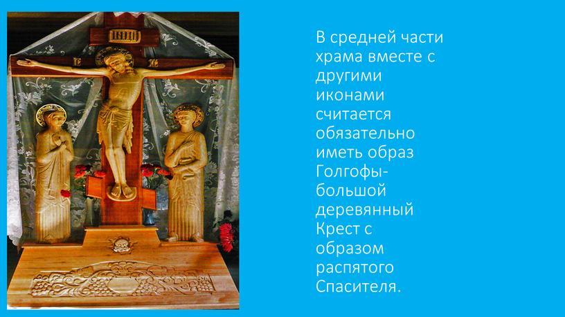 В средней части храма вместе с другими иконами считается обязательно иметь образ