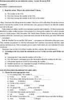 Контрольная работа по английскому языку,  6 класс Кузовлев В.П.