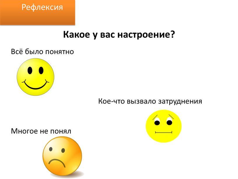 Какое у вас настроение? Всё было понятно