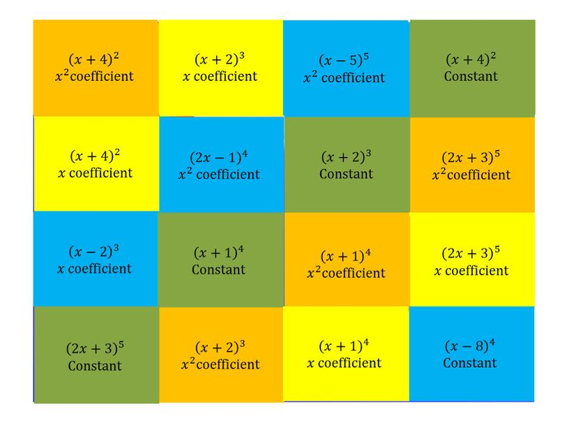 Constant 𝑥+2 3 𝑥+2 𝑥𝑥+2 𝑥+2 𝑥+2 3 3 𝑥+2 3 𝑥𝑥 coefficient 2𝑥−1 4 2𝑥−1 2𝑥𝑥−1 2𝑥−1 2𝑥−1 4 4 2𝑥−1 4 𝑥 2…