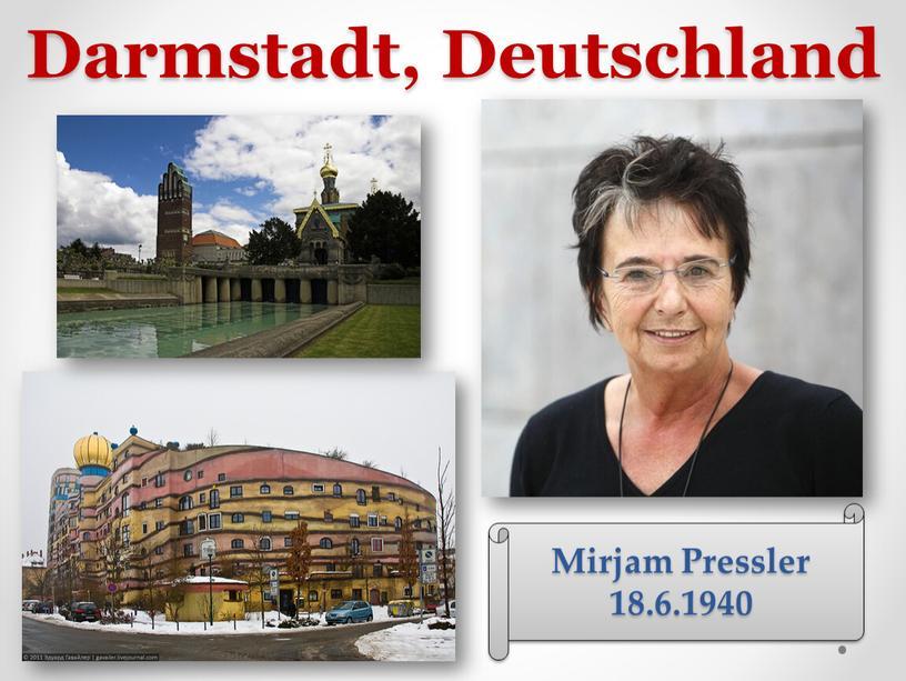 Darmstadt, Deutschland Mirjam Pressler 18