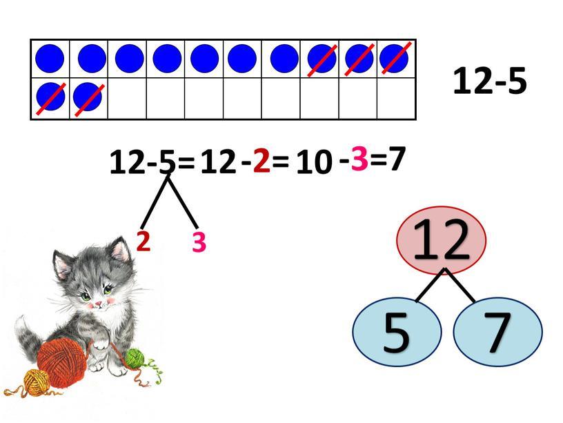 12-5 12-5= 2 3 -2= 10 -3=7 12 12 5 7