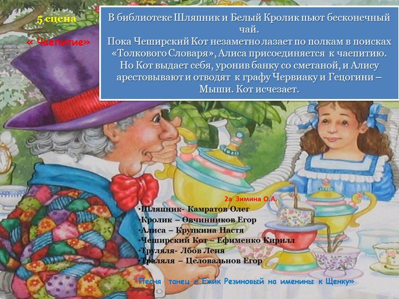 Чаепитие» 2а Зимина О.А. Шляпник-
