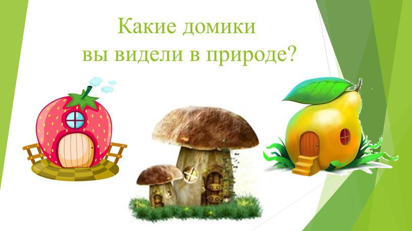 Какие домики вы видели в природе?