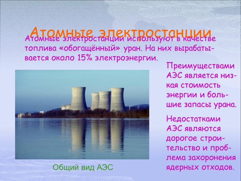Атомные электростанции Общий вид