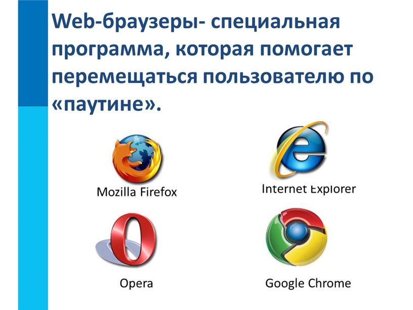 Mozilla Firefox Internet Explorer