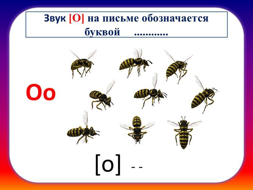 Оо [о] - - Звук [О] на письме обозначается буквой