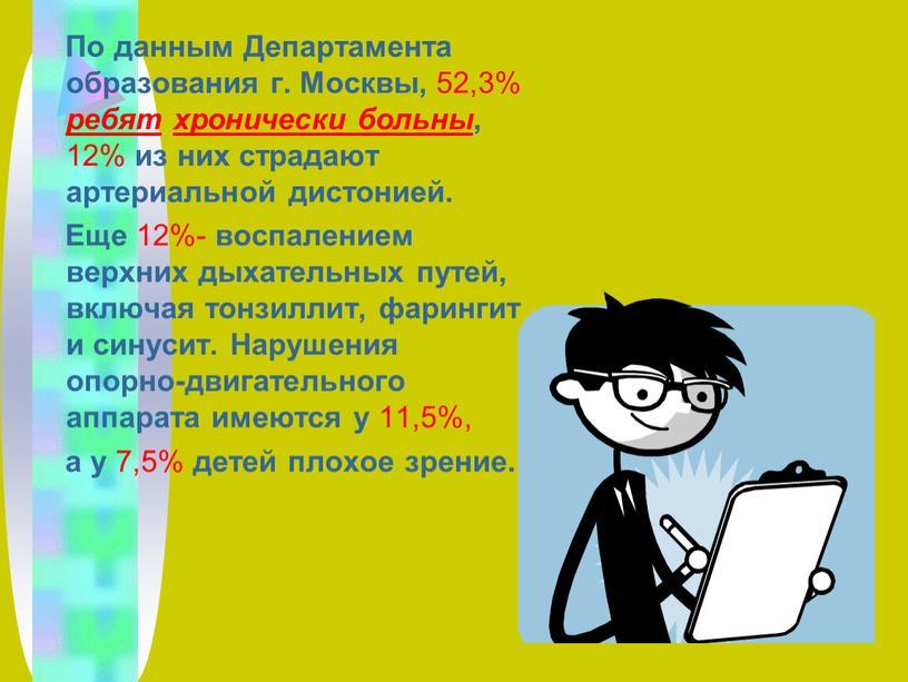По данным Департамента образования г