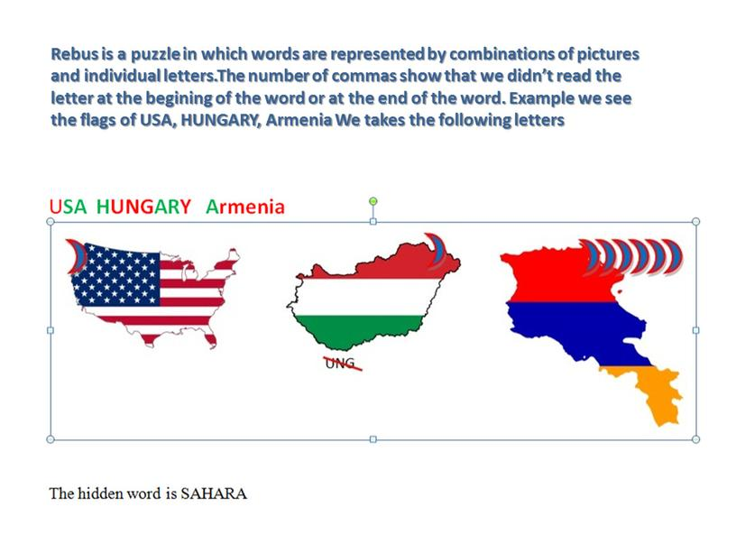 Rebus is a puzzle in which words are represented by combinations of pictures and individual letters