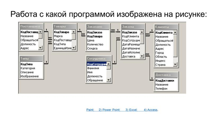 Работа с какой программой изображена на рисунке: