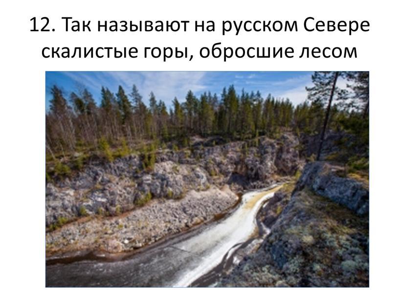 Так называют на русском Севере скалистые горы, обросшие лесом