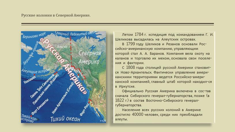 Русские колонии в Северной Америке