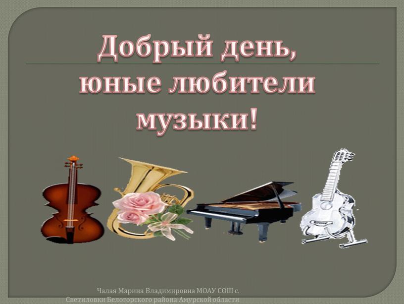 Чалая Марина Владимировна МОАУ